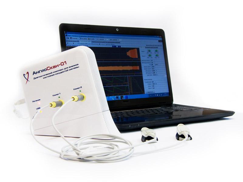 профессиональный диагностический комплекс для оценки артериальной функции, АнгиоСкан-01